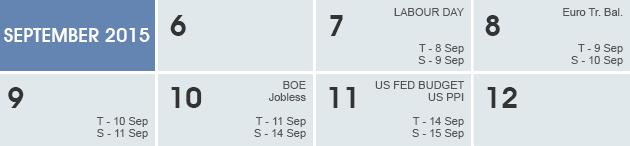 Weekly Calendar 2015